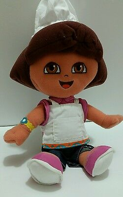 "Dora The Explorer Baker Chef Plush Soft Toy 12"" Stuffed Doll Fisher Price 2005"