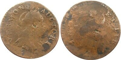 1788 Vermont Copper, Ryder 16, solid Fine, nice detail for variety, NO RESERVE!