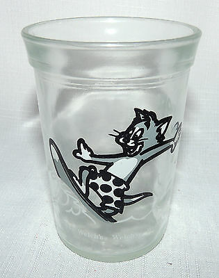 Welch's Jelly Jar Glasses Tom& Jerry Vintage 1990 Tom on his Surfboard