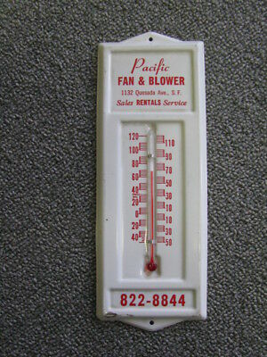 Vintage Advertising Thermometer PACIFIC Fan & Blower San Francisco Cal