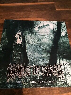 CRADLE OF FILTH - Dusk... And Her Embrace LP Vinyl Black Metal Dimmu Borgir 1996