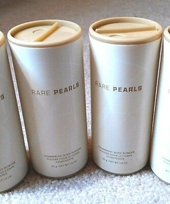 AVON Shimmering Body Powder - RARE PEARLS - Lot of 4...BRAND NEW...1.4oz