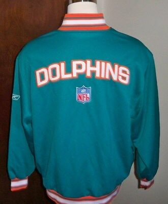 Miami Dolphins 1 4 Zip Pullover Jacket Reebok Nfl Apparel New Sz xl 2Xl f3f4c5040