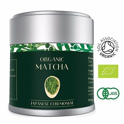 Uji Matcha Green Tea Powder | Organic Finest Ceremonial Grade | Stone Ground 30g