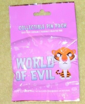 Disney Parks Pin World of EVIL Mystery Pack 5 Random pins NEW sealed Maleficent