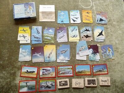 Set Neville Dukes Test Pilot Aeroplane Jet Aircraft Card Game Cardgame Pepys 50s