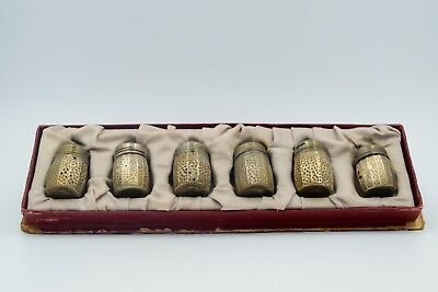 Antique Stephen Castan & Co. And William R Elfers Co. Sterling Silver Shaker Set