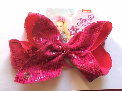 JoJo Siwa Pink Sequin, Signature Hair Bow, 🎀 🌈 Respect the Bow!