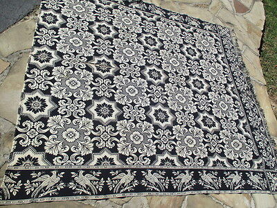 Figured & Fancy 1853 Woven Coverlet Center Stitched Wool Cotton Museum Quality