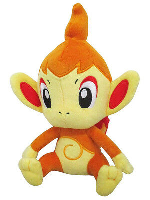 "1x New Sanei Pokemon Sun & Moon All Star (PP88) Chimchar 8"" Stuffed Plush Doll"
