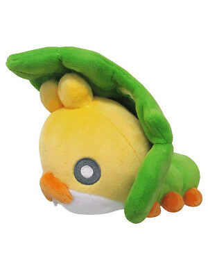 "1x New Sanei Pokemon Sun & Moon All Star (PP92) Sewaddle 5.5"" Stuffed Plush Toy"