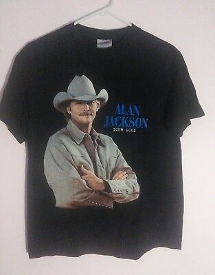 2003  Alan Jackson Greatest Hits II Tour T-Shirt Black Medium Country
