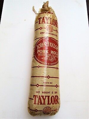 Vintage Taylor's Ham Pork Roll Butcher Grocery Store Advertising Display Trenton