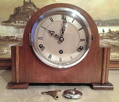 A Rare 1930's 'Clarion' Westminster 8-Day Chiming Mantel clock – Serviced & GWO.