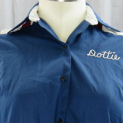 Dottie Sunset Lanes Ontario OR Bowling Shirt 36 Embroidered Made In USA Vintage