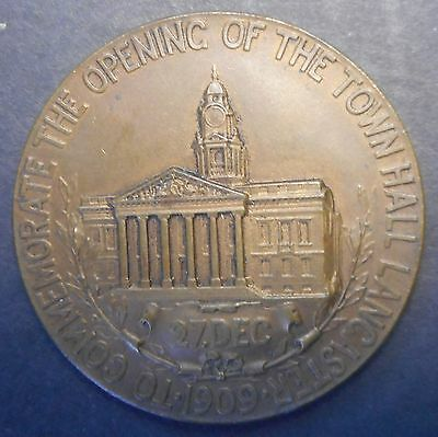 Great Britain 1909 Opening of Lancaster Town Hall Medal   NICE