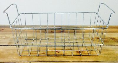 "Vintage Large Wire Basket - 20""x11.5""x7.5"" - Galvanized - Rare - Cool - Rustic"