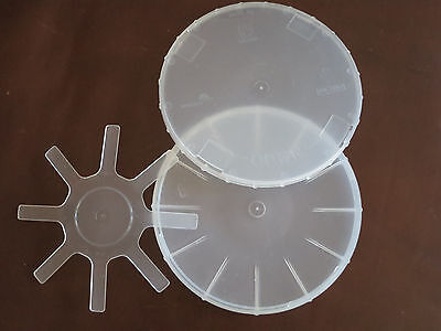 6'' Single Wafer Carrier Box - including Container, Cover & Spring - 10set/pck