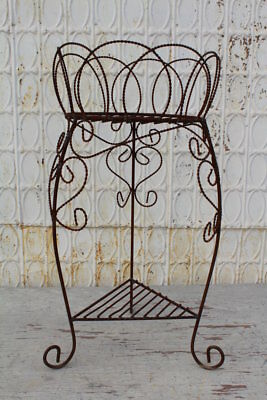 """36"""" Wrought Iron French Triangle Plant Stand Decorative Plant Container"""