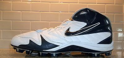 NIKE SPEEDLAX White Navy Blue athletic sports Cleats Shoes MENS 15