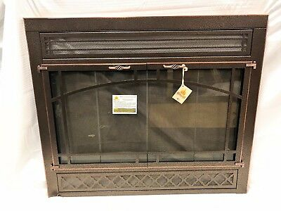 "Stoll Prefab Fireplace Vintage Vein Iron w/ Antique Copper Trim Reface 36"" x 30"""