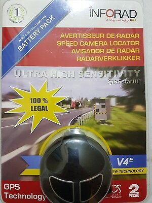 INFORAD V4e+Battery Pack GPS Speed Camera Locator/Detector