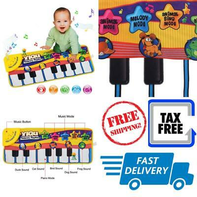 Touch Play Keyboard Instrument Musical Singing Gym Carpet Mat Baby Piano Toy