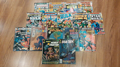 16 VINTAGE COMIC BOOKS LOT MARVEL CHARLTON DC WHITMAN Robot Fighter Star Trek