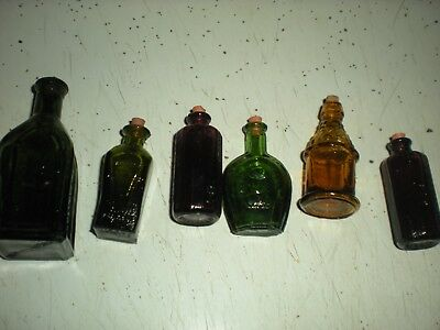 Lot Of Six Miniature Collectible Bottles