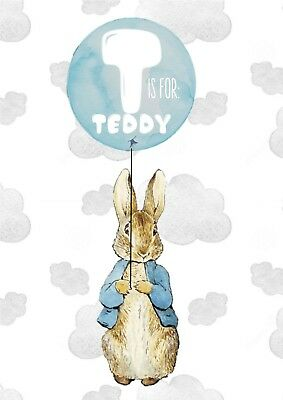 Peter Rabbit - Nursery Print - Personalised