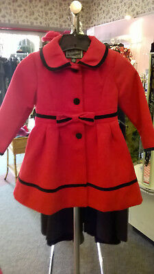 Rothschild Beautiful Red & Black Girls Winter Coat - size 4T