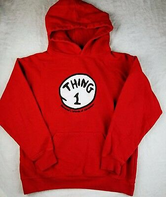 Universal Studio's The Thing 1 Character Red Hoodie Size Youth Small