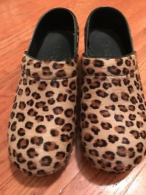 Sanita Professional Clog Size 39 Leopard Pre-owned