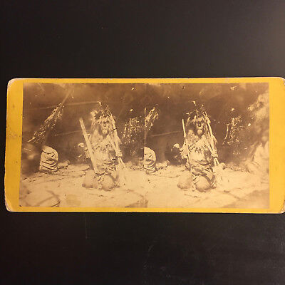 1800's Stereoview of a Native American Indian, by Upton
