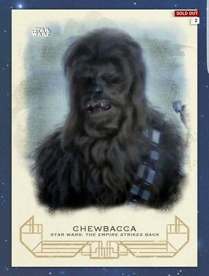 Topps Star Wars Digital Card Trader Galactic Heritage Esb Empire Chewbacca Chewy