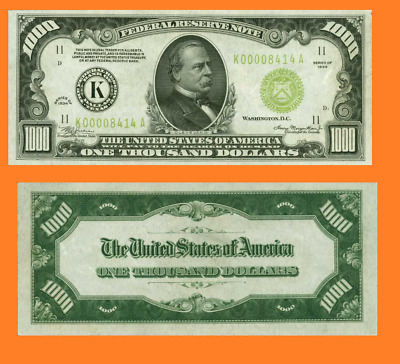 USA 1000 Dollars Federal Reserve note Dallas UNC - Reproduction