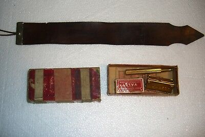 Antique Gold Valet Autostrop Safety Razor Set  USA