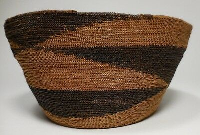 ANTIQUE NATIVE AMERICAN BASKET-NW COAST-EXTREMELY FINE WEAVE-Pre-1900's