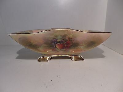 Royal Winton Hand Painted Fruit Pattern Art Deco Footed Rectangular Bowl Signed