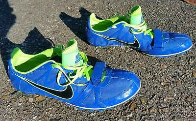 more photos 8a1d6 d3845 NIKE Sprint Mens Blue ZOOM RIVAL S RACING Track   Field Running Spikes 11.5