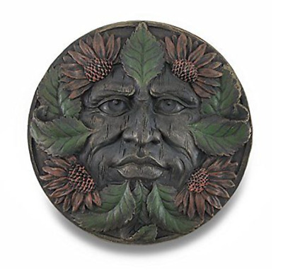 "Celtic Greenman Plaque-Summer - Collectible Green Man 5.5"" Resin"