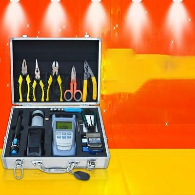 FTTH Optic Tool Kit with Fiber Cleaver/Power Meter/Stripper/Fault Locator New#