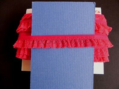 Card of New Gather Lace - Deep Red