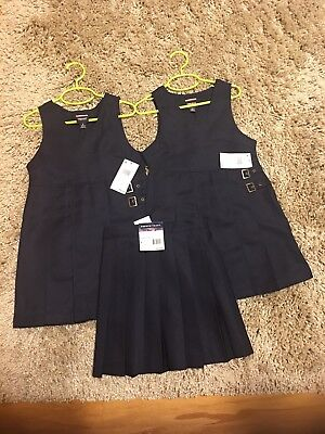 Lot Girls Two Size 6 Uniform Dresses One Size 5 Jumper Skort French Toast