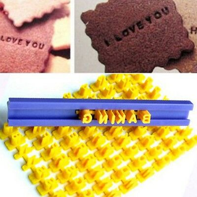 Alphabet Letter Number Cookie Press Stamp Embosser Cutter Fondant Cake Mould#
