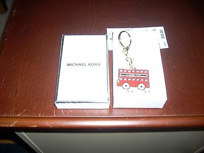Bnwt And In Box Michael Kors Red Bus Charm Fob