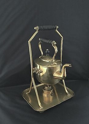 ANTIQUE Victorian AESTHETIC MOVEMENT BRASS SPIRIT KETTLE by SOUTTER & SON's