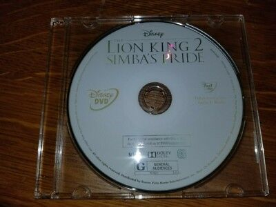 Brand New 2017 Walt Disney The Lion King 2 Simba's Pride Dvd Disc Only