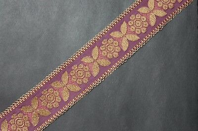 "JASDEE Vintage Jacquard Border Trim Ribbon 2"" Inch Width Floral Style A1286"