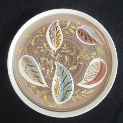 Denby Stoneware Pottery Decorative 25.5 cm Dinner Plate Glynware Handpainted